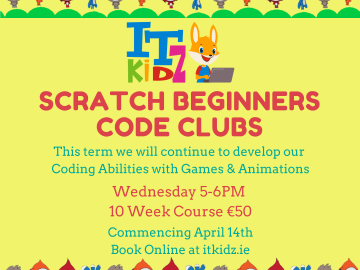 Scratch Beginners Code Club Online